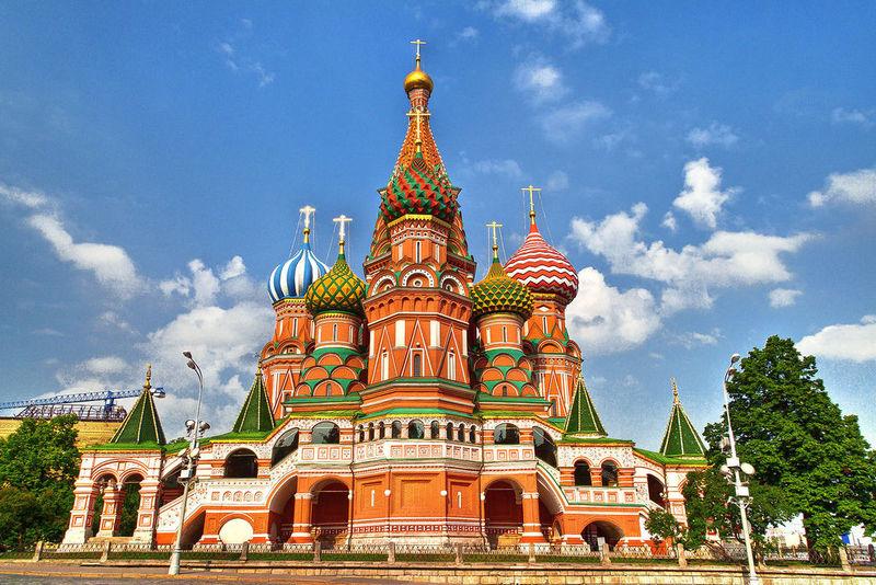 La Catedral de San Basilio, Moscú, Rusia.
