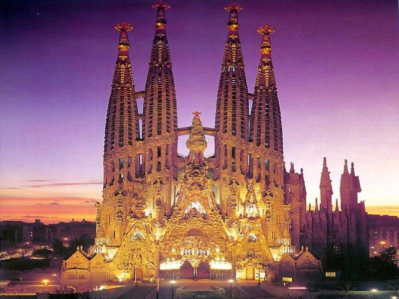 La Sagrada Familia, Barcelona, España.