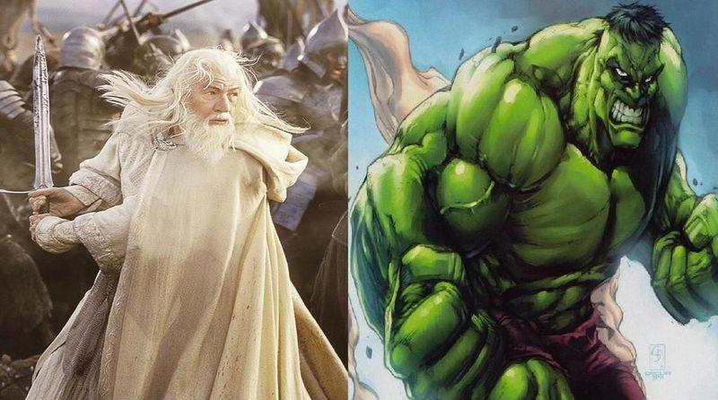 ¿Quién ganaría en un combate?¿Gandalf el Blanco o el Increíble Hulk?