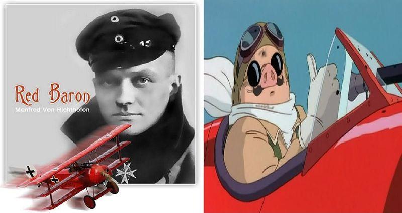 ¿Quién ganaría en un combate aéreo?¿El Barón Rojo o Porco Rosso?