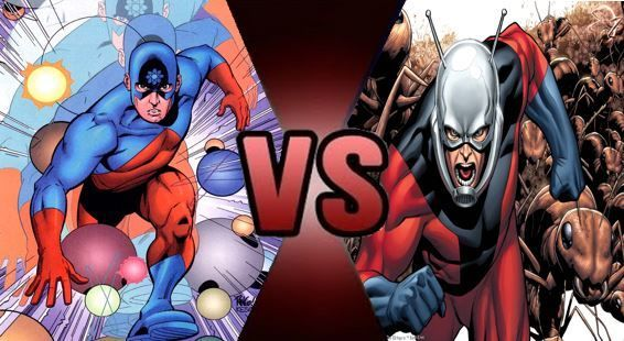 Primera pregunta: ¿ Quién nació antes Atom (DC) o Ant-man (Marvel)?