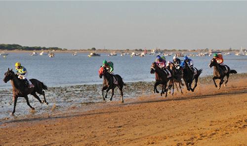 ¿En qué municipio costero tiene lugar las famosas carreras de caballos por la playa?