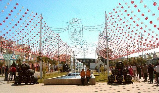 ¿Qué feria gaditana es conocida como La Feria del Carmen y de la sal?
