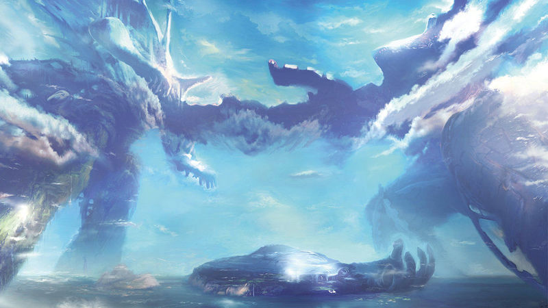 ¿Cómo se llaman los dos titanes legendarios de Xenoblade Chronicles?