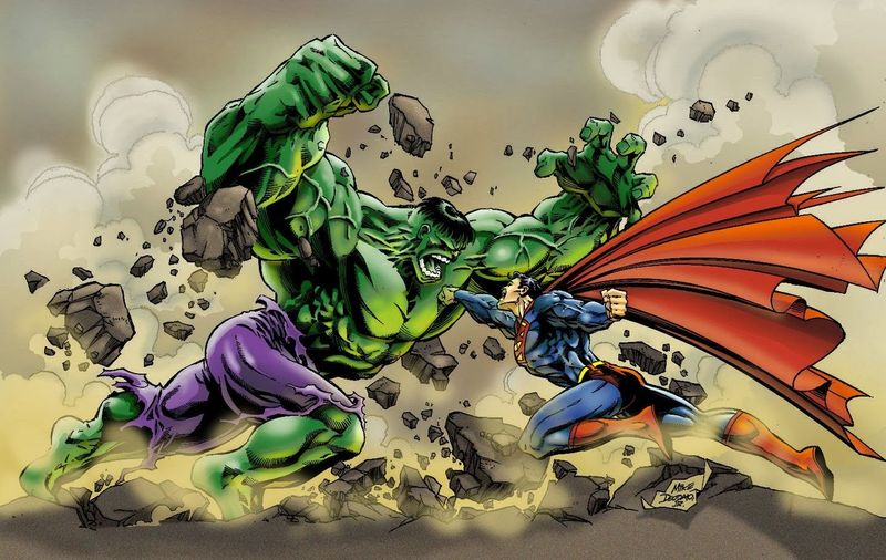 ¿Superman o Hulk?