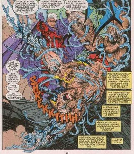 SPOILER. Después de que Magneto le quite el adamantium, ¿qué le pasó a Wolverine?