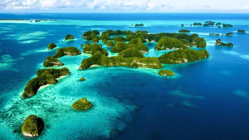Estas pequeñas islas ( Palaos, Guam, Carolinas, Nauru y Gilbert) forman parte de: