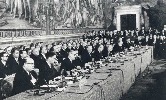 En qué año fué el Tratado de Roma, que dió origen a la Comunidad Económica Europea?