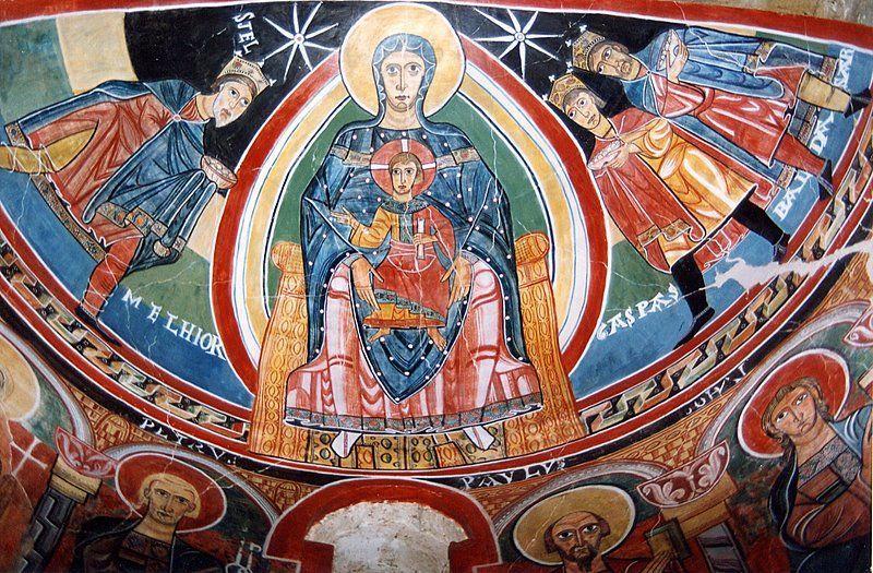 La virgen con el niño en Santa Maria de Taull es de estilo....