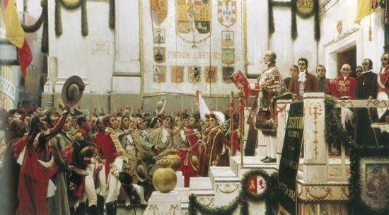 ¿En que año salió la primera constitución española también conocida como