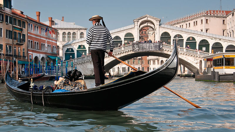 Mar que inunda Venecia.