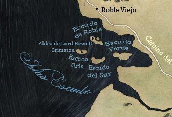 ¿Quién es el actual señor de Escudo de Roble en las Islas Escudo?