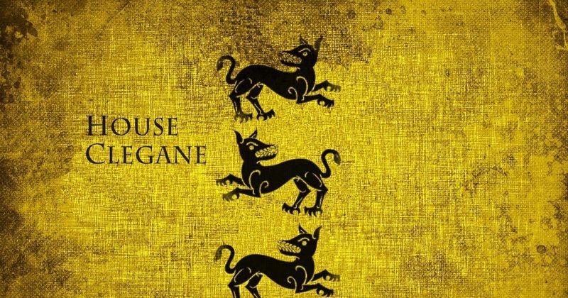 ¿Por qué el escudo de la casa Clegane tiene tres perros?