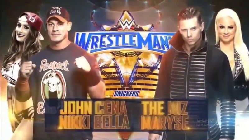 John Cena & Nikki Bella vs. The Miz & Maryse