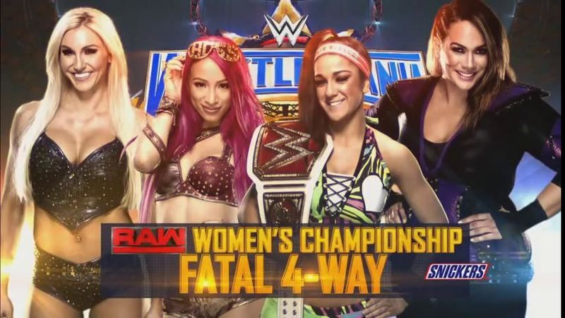 Fatal 4-Way Elimination Match por el Campeonato Femenino de Raw: Bayley (c) vs. Charlotte Flair vs. Sasha Banks vs Nia Jax