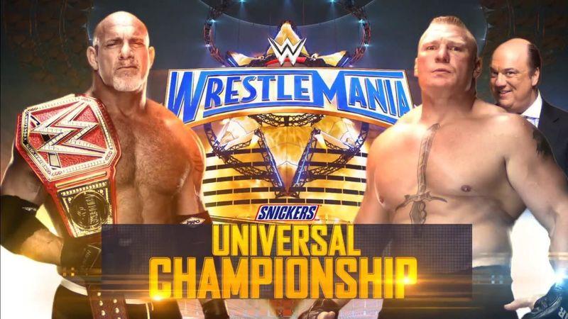 Campeonato Universal de la WWE: Goldberg (c) vs. Brock Lesnar (con Paul Heyman)