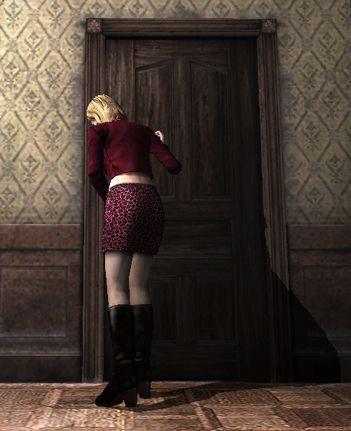 ¿Cómo se llama el misteriso hombre detrás de la puerta con el que habla María?