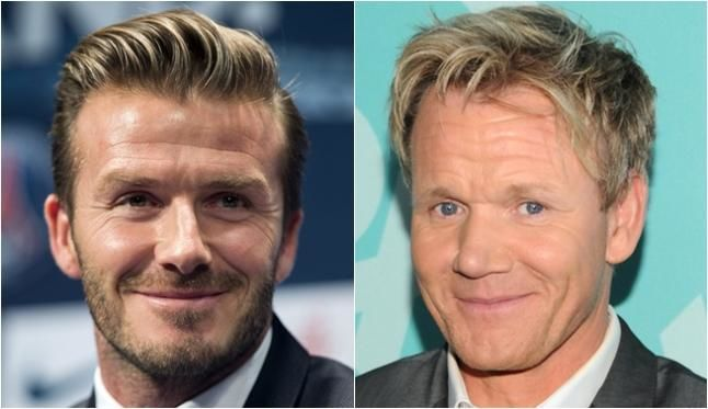 ¿David Beckham y Gordon Ramsay?