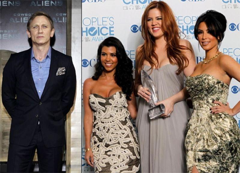 ¿Daniel Craig y Las Kardashian?