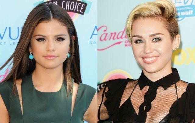 ¿Selena Gomez y Miley Cyrus?