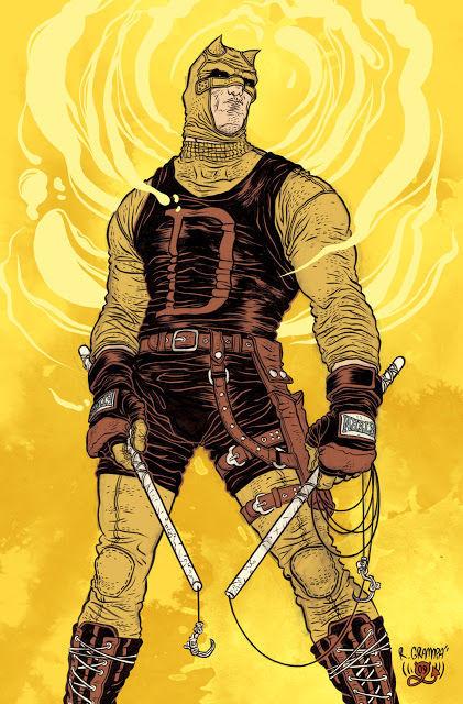 ¿Por qué el traje de Daredevil era amarillo cuándo comenzó su carrera cómo vigilante?.
