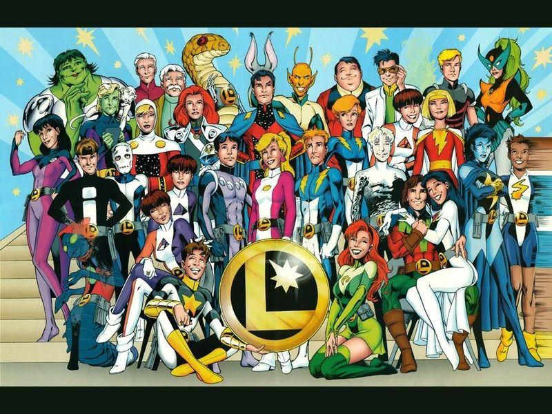 Nombre de los fundadores de la Legión de Superhéroes.