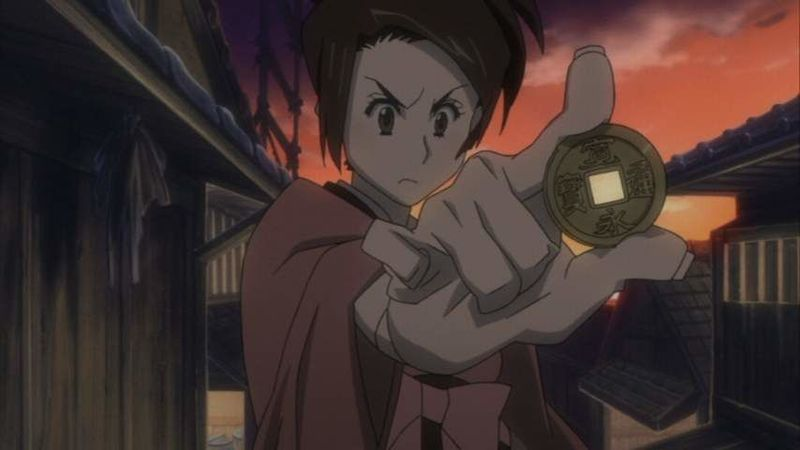Fuu lanzó una moneda para ver si Mugen y Jin la acompañaban o bien ambos se peleaban allí mismo... ¿Recuerdas qué salió?