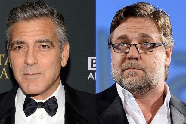 ¿George Clooney y Russell Crowe?