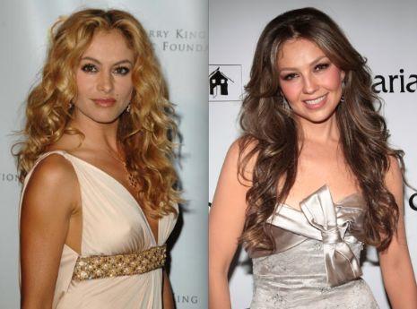 ¿Paulina Rubio y Thalía?