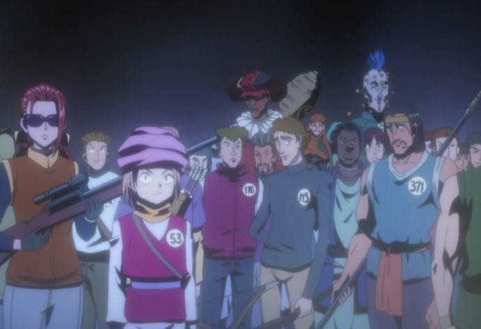 ¿Con cuantas fases conto el examen de cazador en que participaron por primera vez los personajes principales?