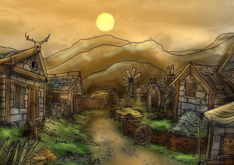 Amanece en Villaceniza, acabas de recoger tu campamento situado en el pequeño sendero que se dirige a la aldea y...?