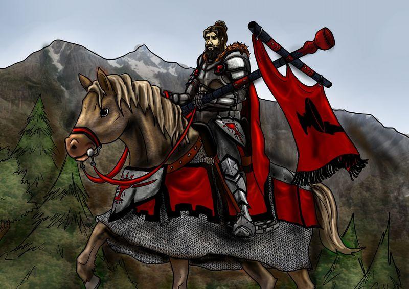 A la vuelta de la esquina, puedes ver a un caballero sobre su caballo, sin embargo él aun no te ha visto...