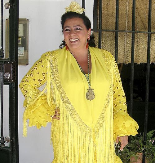 Tu madre vestida de flamenca