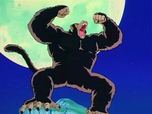 ¿Cuántas veces podemos ver la transformación en Ozaru (mono gigante)?