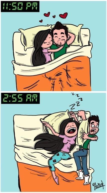 ¿Lado de la cama?