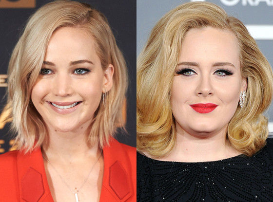 ¿Jennifer Lawrence y Adele?
