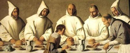 Treinta monjes y un abad...
