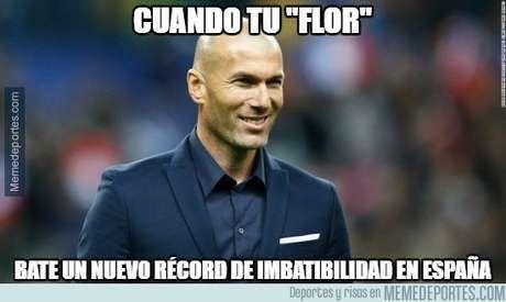 ¿La supuesta flor de Zidane es real o puede que sepa entrenar?