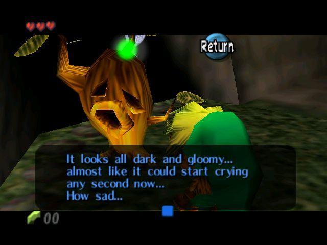 ¿Qué es el tronco que aparece en Majora's Mask antes de entrar por primera vez a torre reloj?