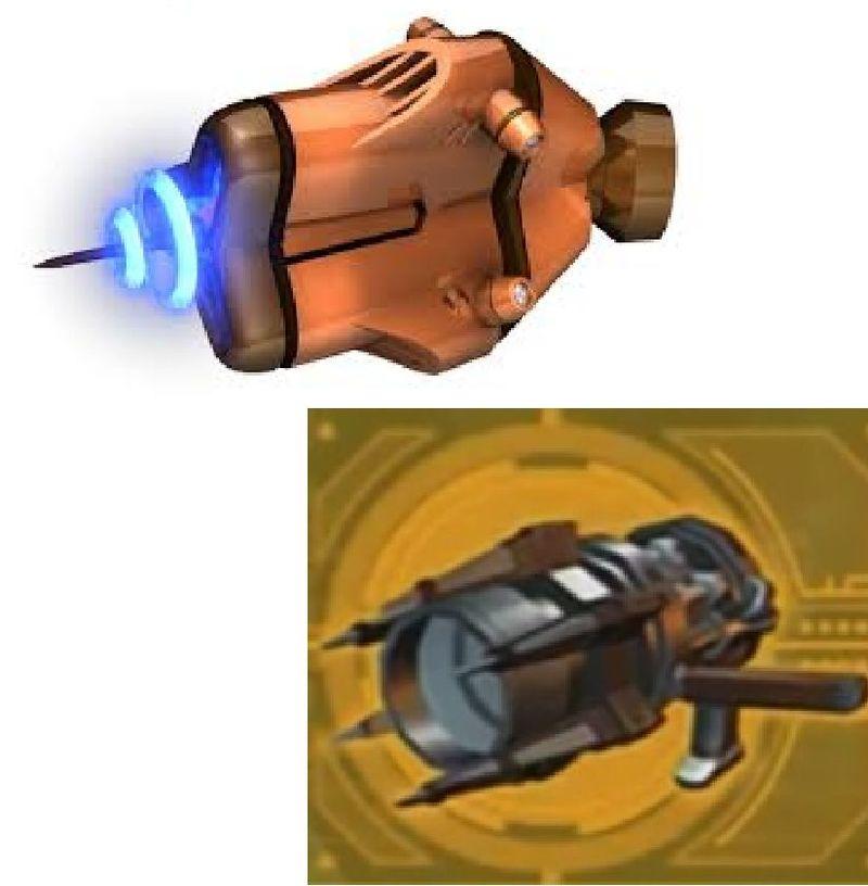 ¿Qué dos armas tienen el mismo efecto en pantalla?