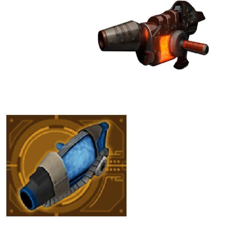 ¿Qué pareja de armas son la misma?