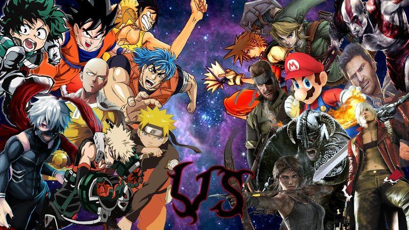 ¿Videojuegos o Anime?