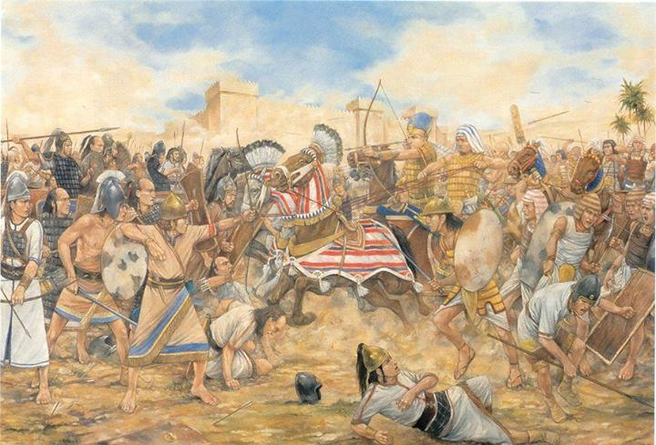¿Cuál fue la primera batalla documentada de la que se tiene noticia?