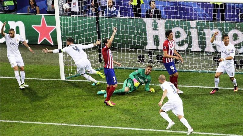 ¿En qué minutó abrió el marcador Sergio Ramos para el conjunto blanco?