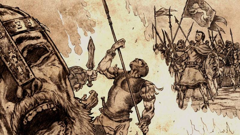 Durante la batalla conocida como el Campo de Fuego. ¿Quién era el comandante de las fuerzas del dominio?
