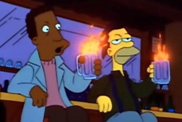 Recuerda a qué grupo invitó Moe a su bar...
