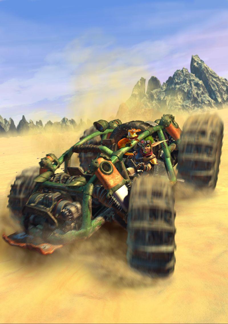 ¿Cuál es el coche que puede hacer supersaltos en Jak 3?