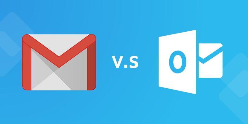 Correos: Outlook vs. Gmail