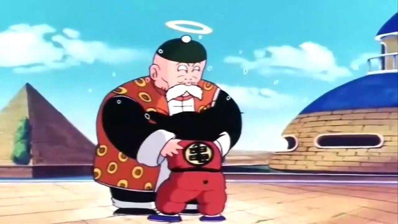 Goku se encuentra con su abuelo