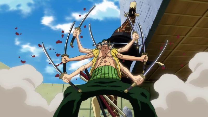 Zoro derrota a Kaku con